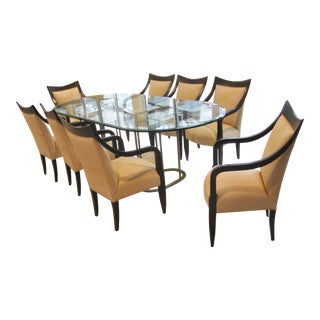 John Hutton for Donghia Dining Room Chairs & Table - Set of 8 For Sale