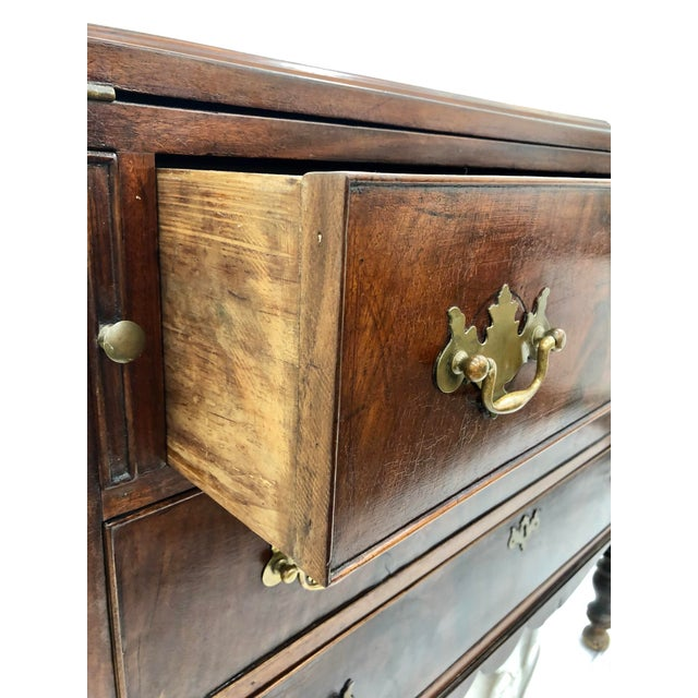 Gold Antique Secretary Cabinet For Sale - Image 8 of 13