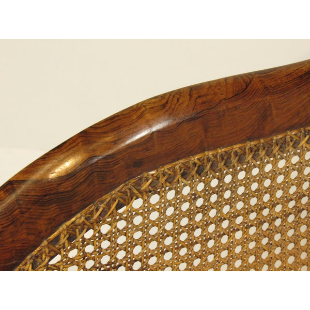 19th C. British Colonial Rosewood Settee For Sale - Image 11 of 13