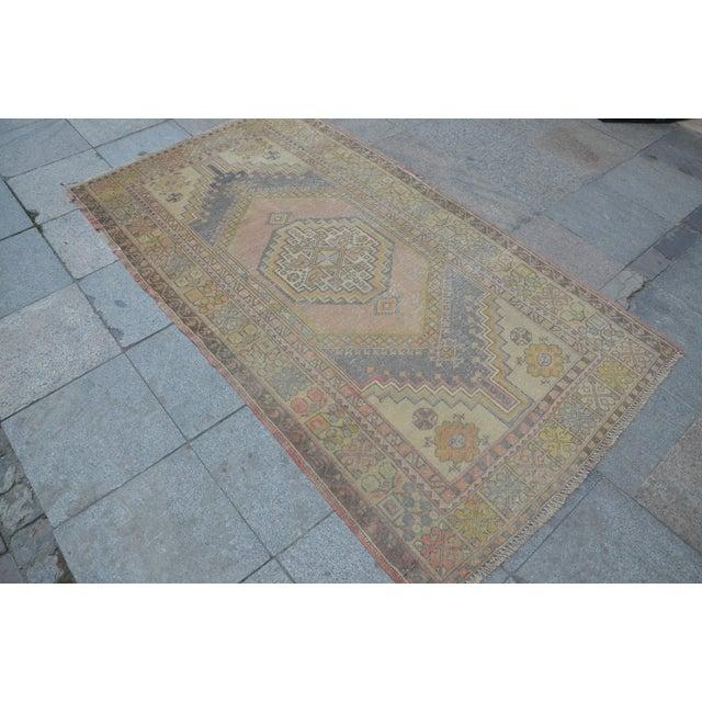 Islamic Turkish Anatolian Floor Carpet - 4′ × 7′ For Sale - Image 3 of 6