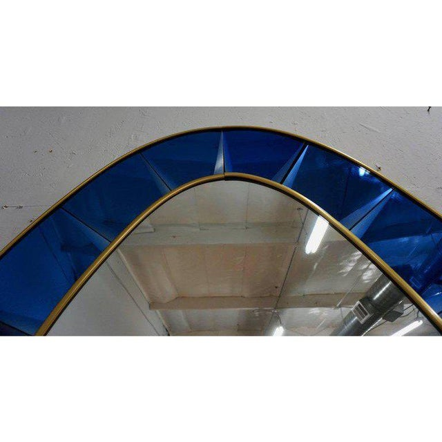 Mid-Century Modern Crystal Arte Wall Mirror For Sale - Image 3 of 6