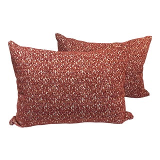 Contemporary Style Textured Pillows - a Pair For Sale