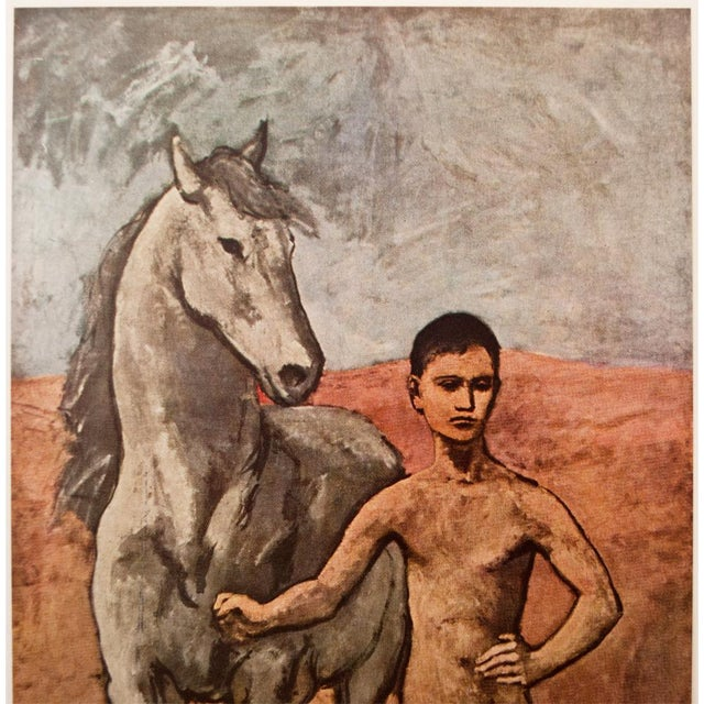 """Impressionism 1950s Picasso, Original """"Boy Leading a Horse"""" Period Lithograph For Sale - Image 3 of 10"""