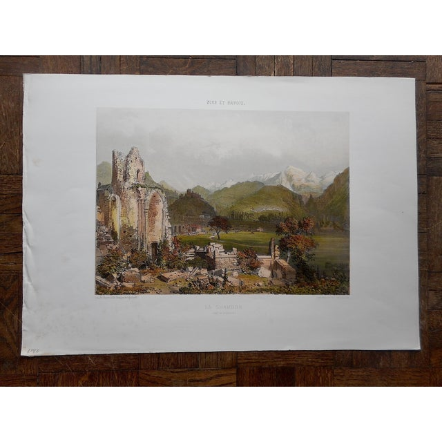 This hand finished mid-19th century chromolithograph (each color laid in with a separate lithographic stone) depicts a...