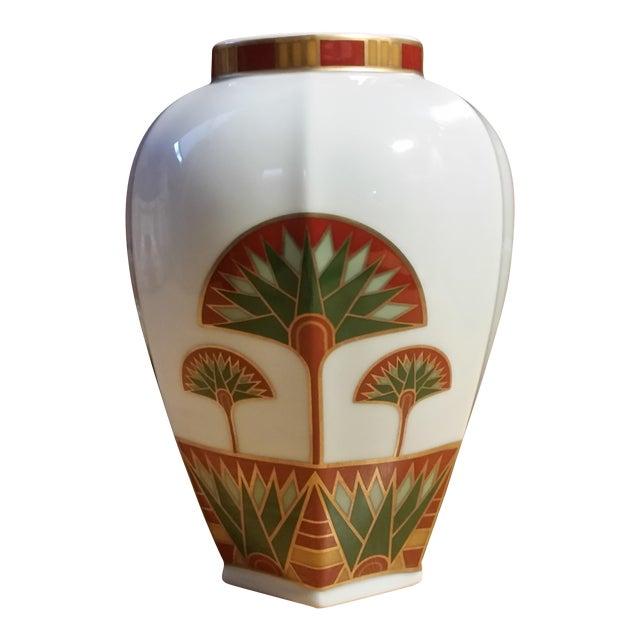 Signed Gail Levites Lotus Porcelain Vase Made in Japan - Image 1 of 6