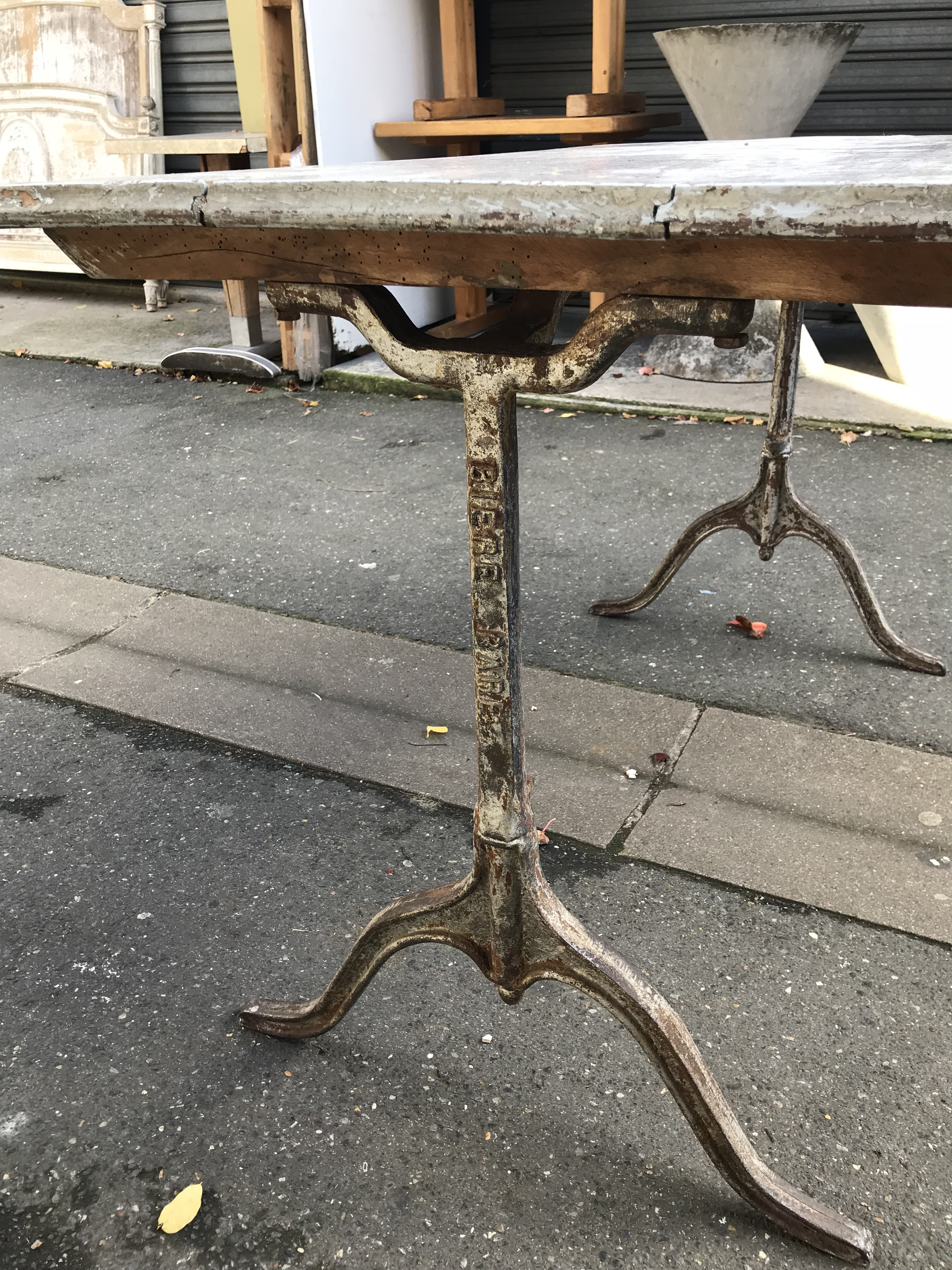 Antique French Bistro Table   Image 5 Of 8