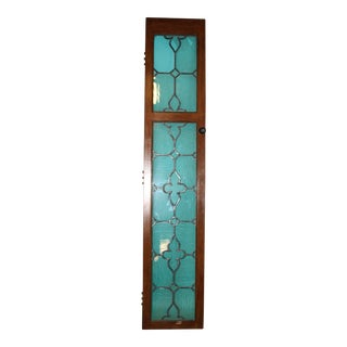 Antique Architectural Stained Glass Door For Sale