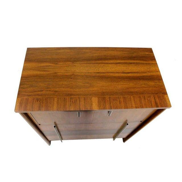 John Widdicomb Mid-Century Modern Walnut High Chest Dresser For Sale In New York - Image 6 of 9