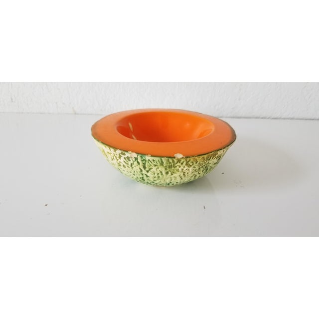 Ceramic Italian Cantaloupe Bowl by Ed Langbein For Sale - Image 7 of 9