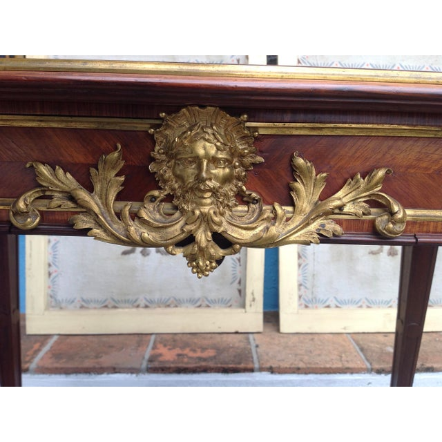 Gold Fine French Ladies Writing Table For Sale - Image 8 of 13