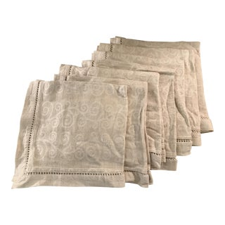 Swirl Pattern Napkins - Set of 7 For Sale