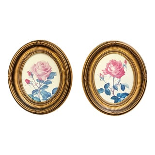 Antique Oval Wood Frames With Gilt Finish - a Pair For Sale