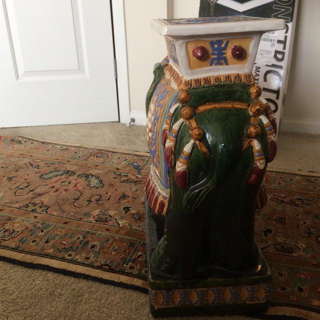 Ceramic Decorative Elephant Statue For Sale - Image 4 of 8