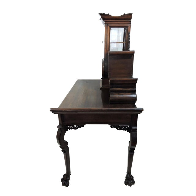 Antique French/Japanese Secretaire Attributed to Gabriel Verdoit, Etagere Desk/Console For Sale - Image 4 of 9