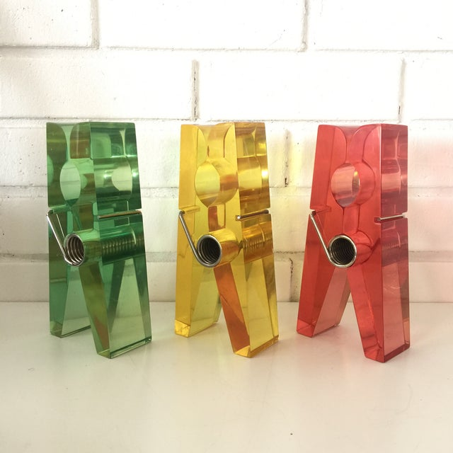 Giant Green Lucite Clothespin For Sale In San Francisco - Image 6 of 10