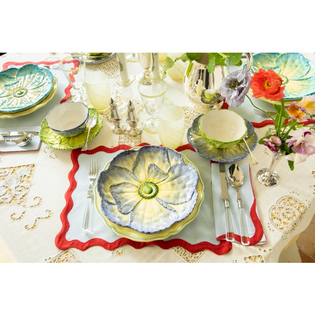 Moda Domus x Chairish Exclusive Dessert Plates in Blue, Purple, and Green - Set of 6 For Sale - Image 9 of 11