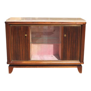 1940s Art Deco Maurice Rinck Exotic Macassar Ebony Sideboard For Sale
