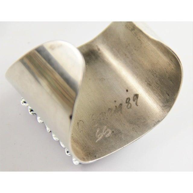 1989 David Garcia Fused Glass Artisan Cuff Bracelet For Sale - Image 4 of 7