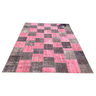 "Over-dyed Patchwork Rug - 9'2"" x 12'3"""