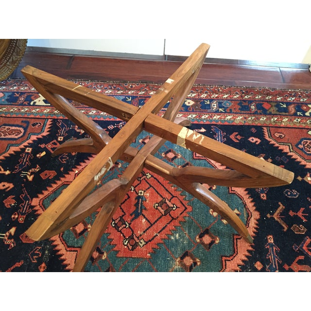 MCM Oriental Brass Tray Table - Image 9 of 10