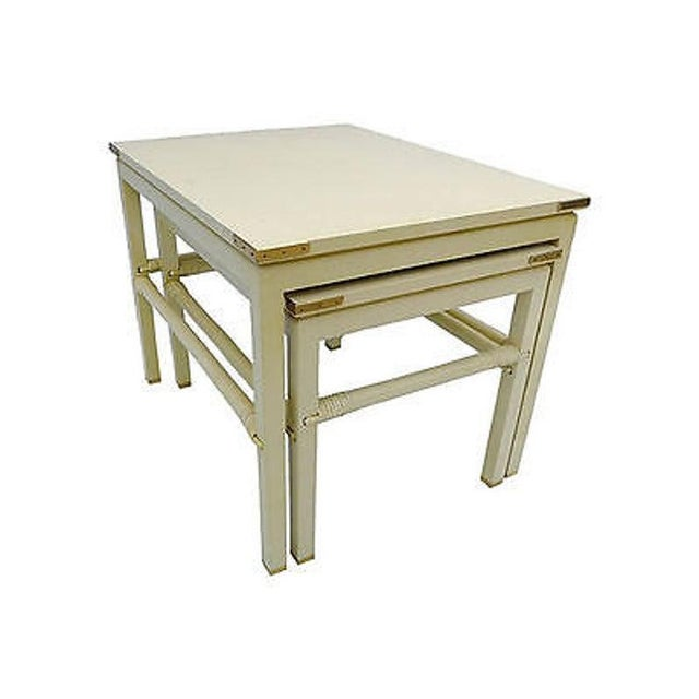 Mid-Century Modern 90's Modern Style Costume Made for Interior Designer Nesting Tables S (2) For Sale - Image 3 of 6