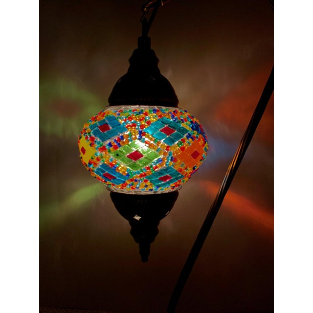 Turkish Handmade Mosaic Table Lamp For Sale - Image 4 of 5
