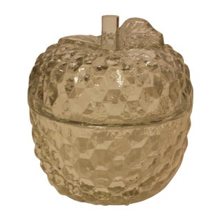 Crystal Apple Covered Candy Dish For Sale