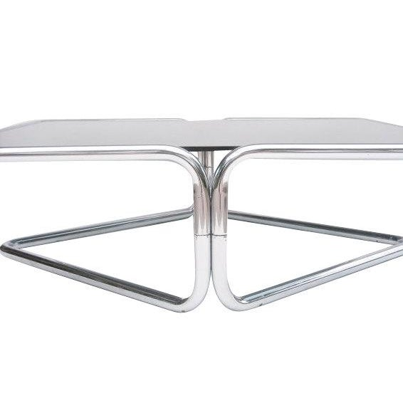 Mid Century Coffee Table Chrome Jerry Johnson - Image 1 of 5