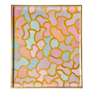 1950s New York Abstract Expressionist Geometric Painting Patricia Sloane For Sale