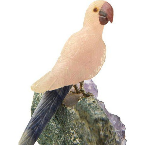 Brazilian Hand-Carved Gemstone Bird For Sale In Miami - Image 6 of 9