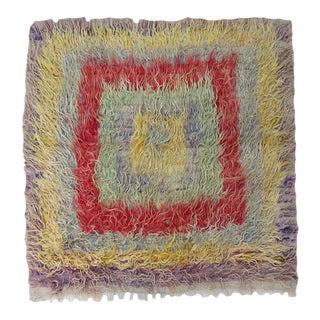 Vintage Angora Wool Rug For Sale