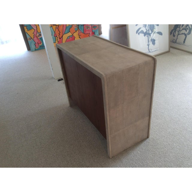 R & Y Augousti R & Y Augousti Natural Shagreen 3-Drawer Commode For Sale - Image 4 of 8