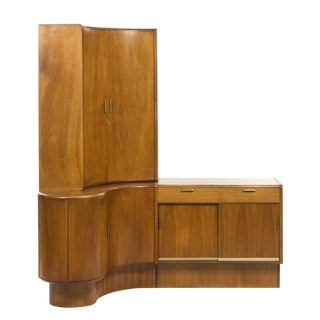 Danish Modern Teak Corner Desk & Storage Unit For Sale