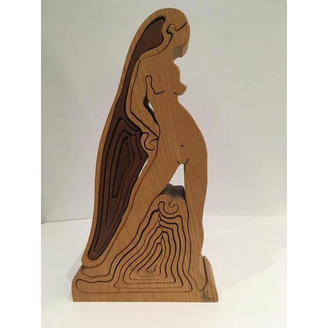 American Craftsman Female Nude Wooden Puzzle For Sale - Image 11 of 11