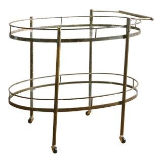 Art Deco Brass Bar Cart