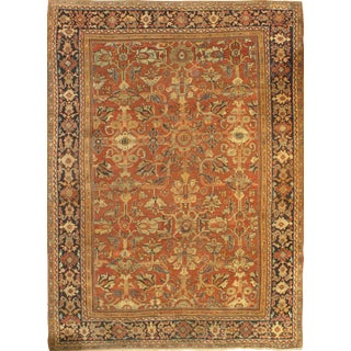 "Pasargad Antique Persian Mahal Lamb's Wool Rug - 8'8"" X 12'2"" For Sale"