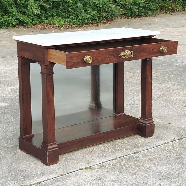 19th Century French 2nd Empire Period Marble Top Console For Sale In Dallas - Image 6 of 11