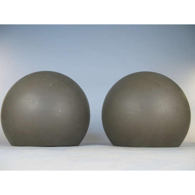 Mid-Century Modern Pair of Large Sphere Wall Sconces From Avery Fisher Hall For Sale - Image 3 of 6