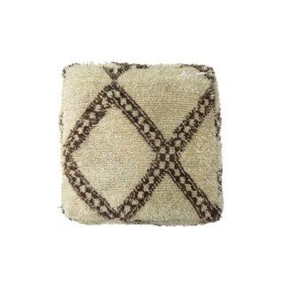 'Mar Mar' Beige Moroccan Floor Pillow For Sale
