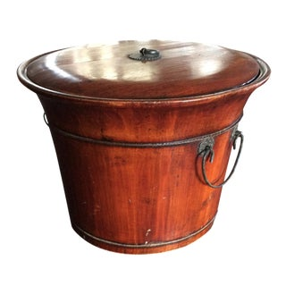 Asian Wooden Lidded Container