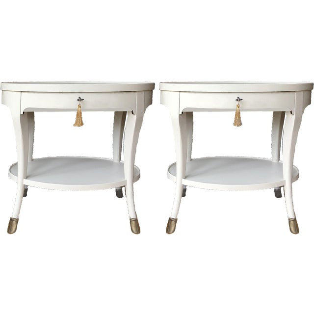 Louis XIV Baker Furniture Oval Side Tables - a Pair For Sale - Image 9 of 9