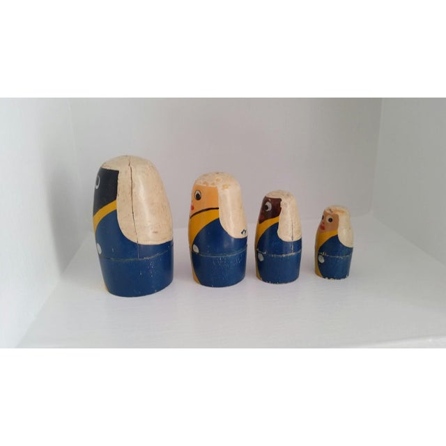 Wood Mid-Century Russian Nesting Dolls For Sale - Image 7 of 7