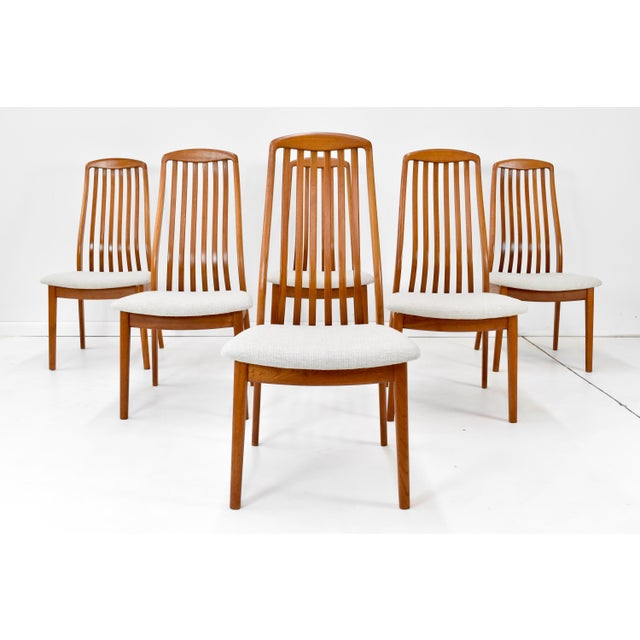 Danish Modern Teak Dining Chairs by Edward Valentinsen - Set of Six For Sale - Image 13 of 13