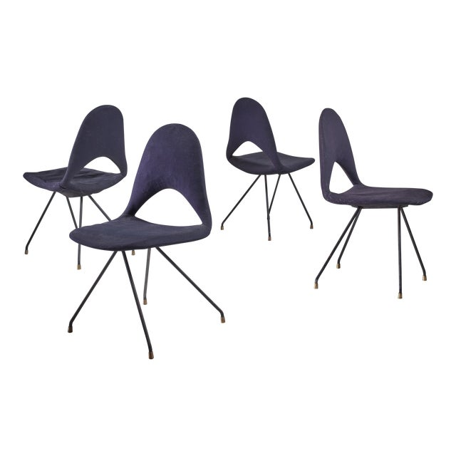 Set Of Four Chairs By Gastone Rinaldi For Rima For Sale