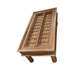 1920s Art Nouveau Jharokha Solid Wood Coffee Table For Sale