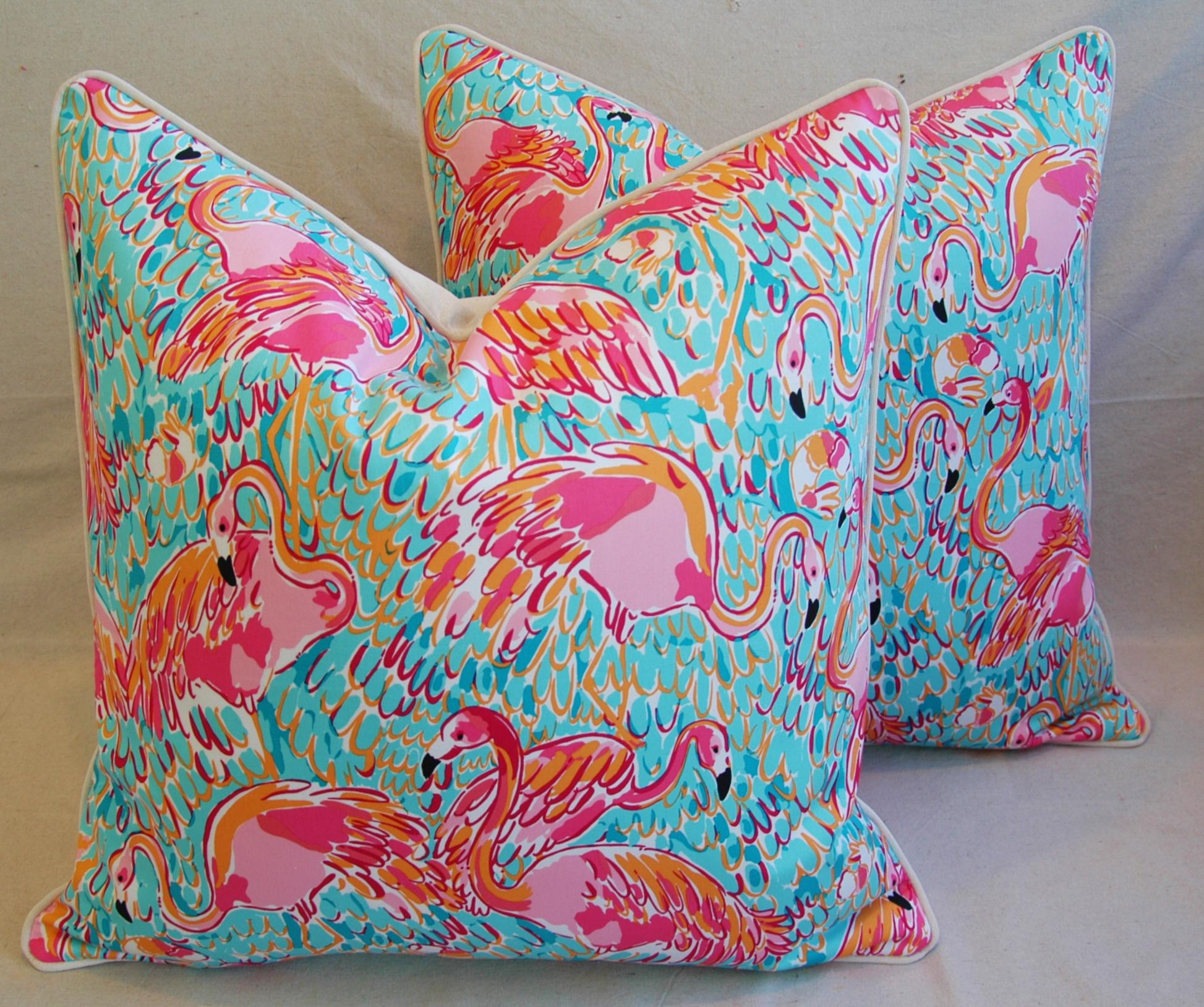 24 X 24 Lilly PulitzerInspiredStyle Tropical Pink Flamingo