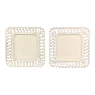Milk Glass Plates - a Pair For Sale
