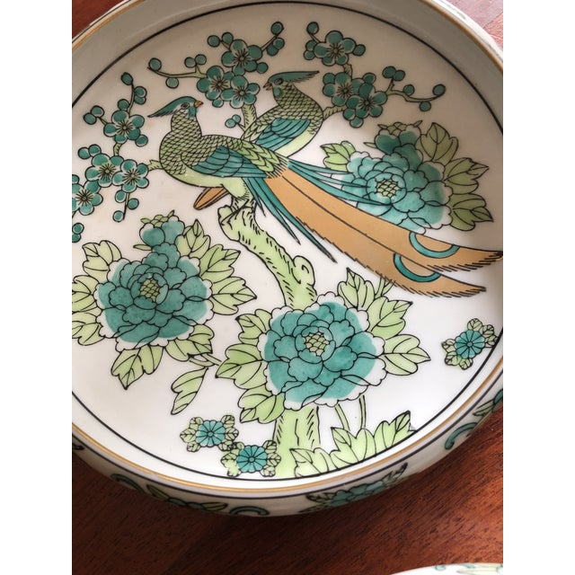 Imari bowls with great turquoise and gold details. Wonderful display items!