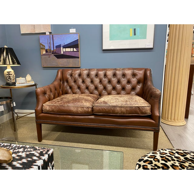 Mid-Century Modern Vintage 1960s Leather Sofa For Sale - Image 3 of 11
