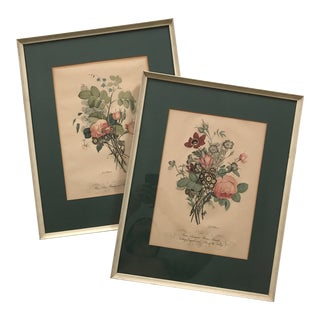 1900's Framed Floral Prints - a Pair For Sale